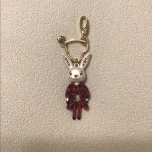 Betsy Johnson Fancy Bunny Keychain